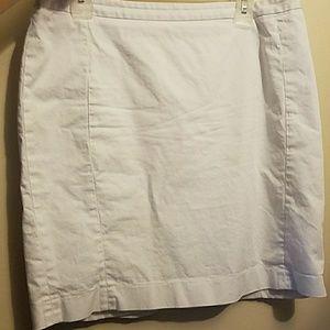 Express White Skirt